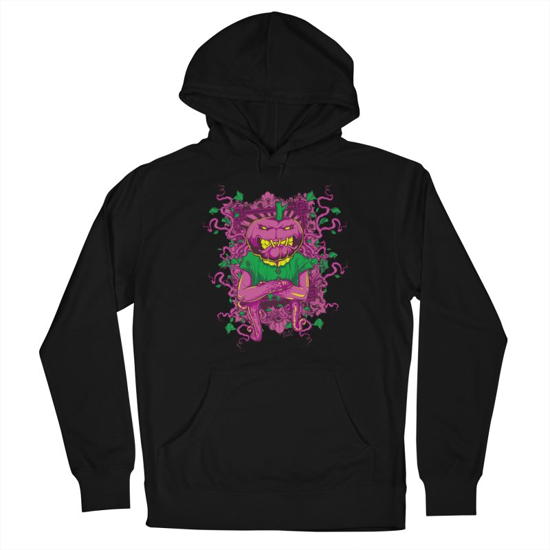 Pumpkin Terror Women's French Terry Pullover Hoody by Wicked Oddities