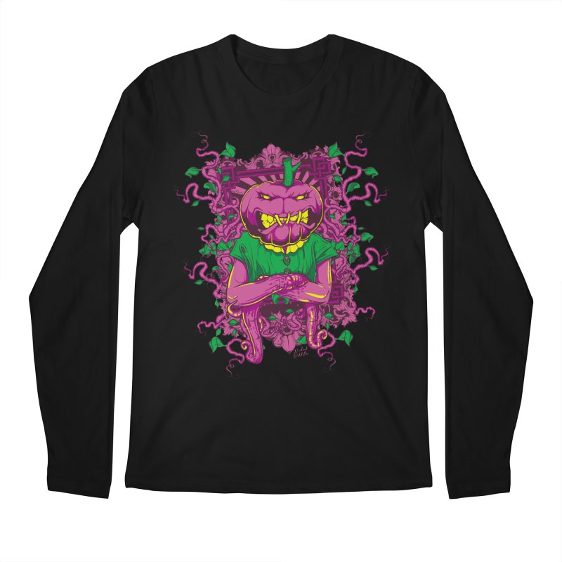 Pumpkin Terror Men's Regular Longsleeve T-Shirt by Wicked Oddities