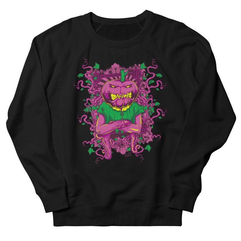 Pumpkin Terror Men's French Terry Sweatshirt by Wicked Oddities