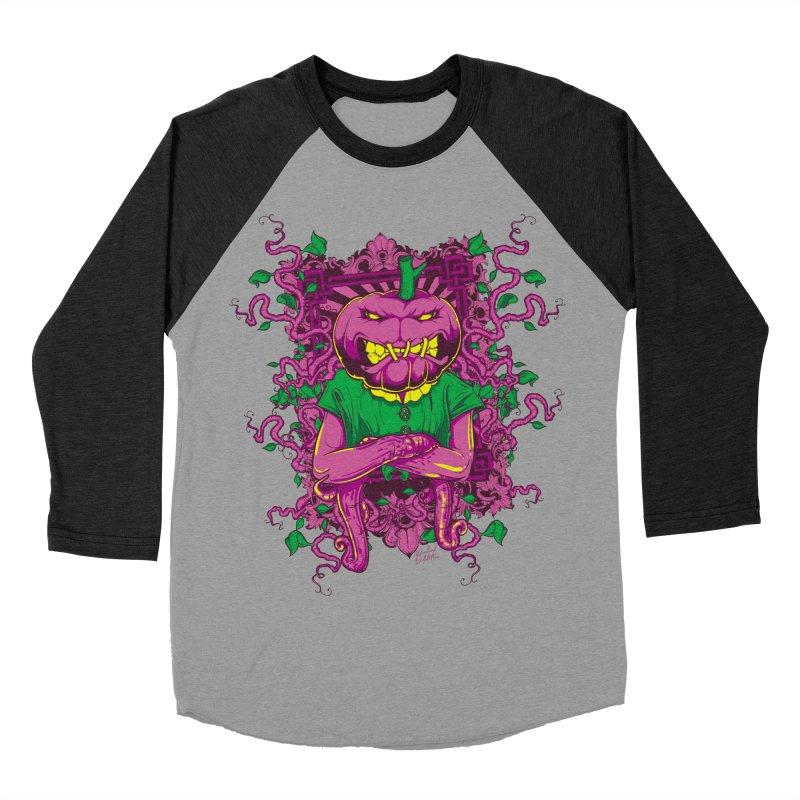 Pumpkin Terror Women's Baseball Triblend Longsleeve T-Shirt by Wicked Oddities