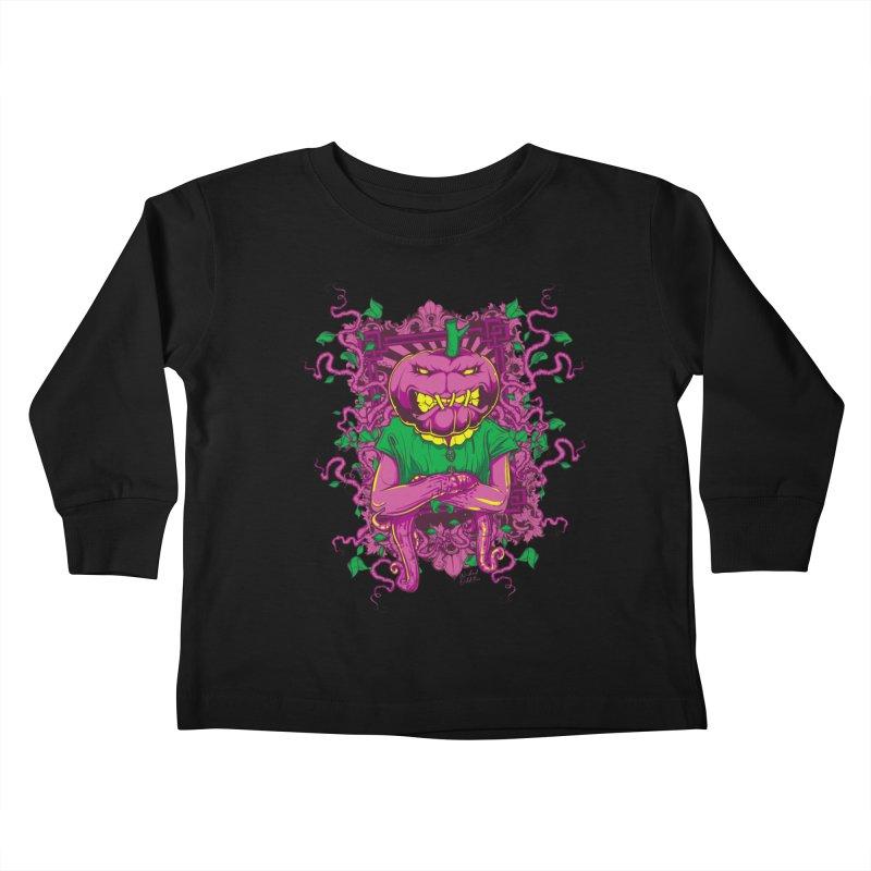 Pumpkin Terror Kids Toddler Longsleeve T-Shirt by Wicked Oddities