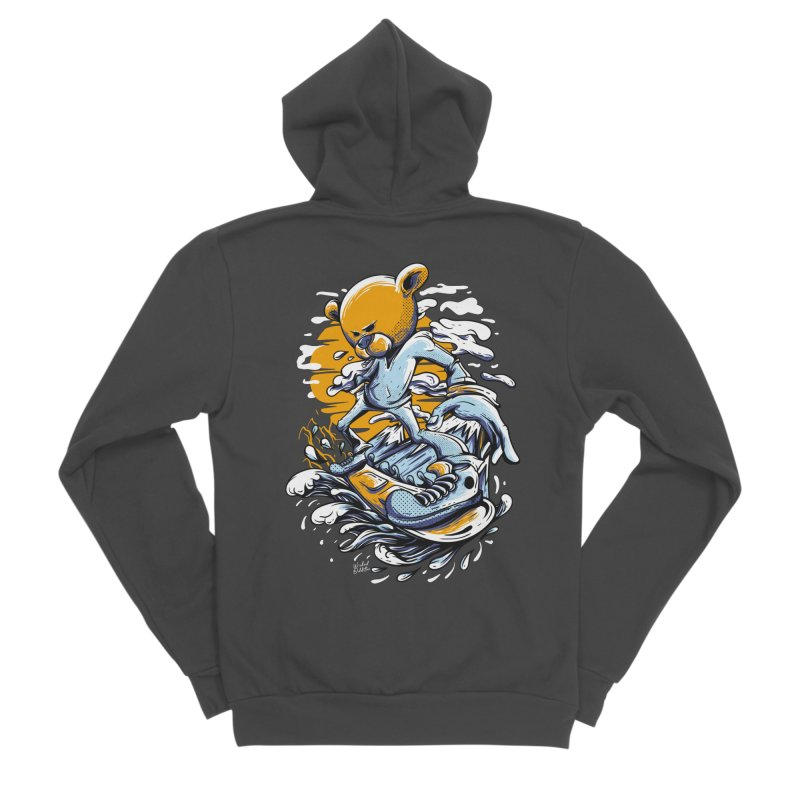 Snow Bear Women's Sponge Fleece Zip-Up Hoody by Wicked Oddities