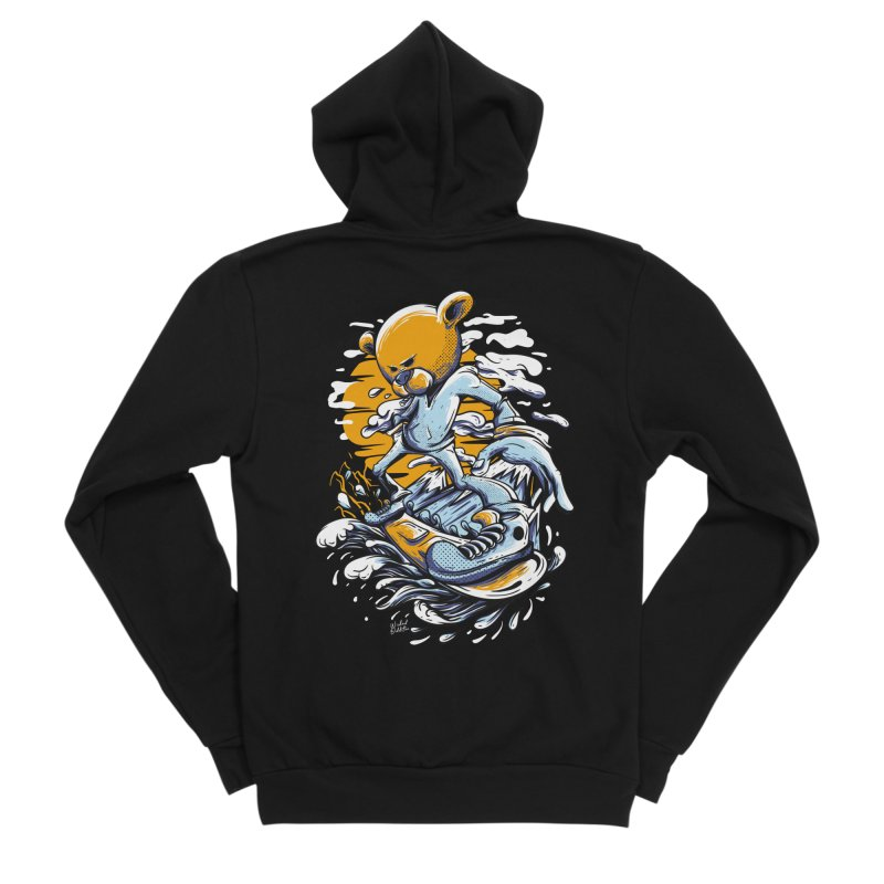 Snow Bear Men's Sponge Fleece Zip-Up Hoody by Wicked Oddities