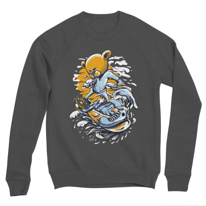 Snow Bear Men's Sponge Fleece Sweatshirt by Wicked Oddities