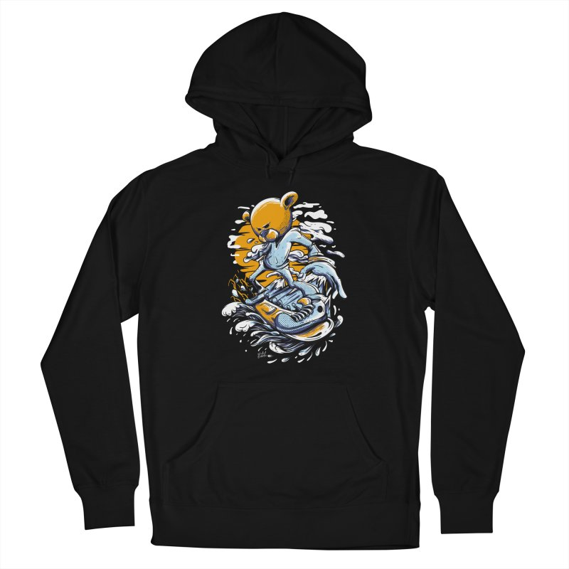 Snow Bear Women's French Terry Pullover Hoody by Wicked Oddities