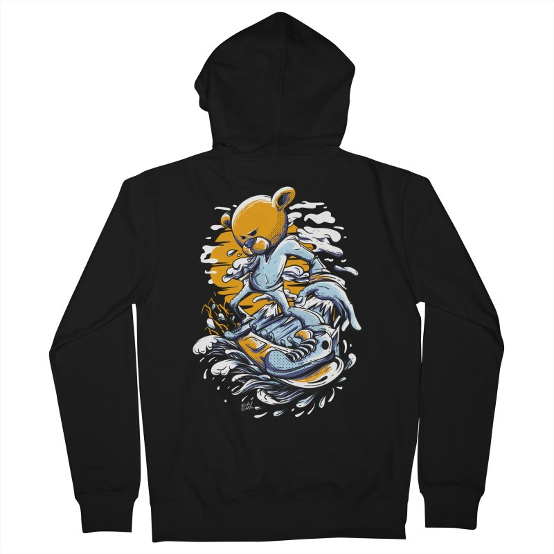 Snow Bear Men's French Terry Zip-Up Hoody by Wicked Oddities