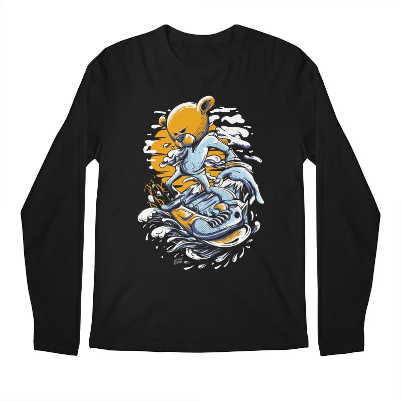 Snow Bear Men's Regular Longsleeve T-Shirt by Wicked Oddities