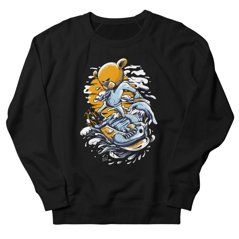 Snow Bear Women's French Terry Sweatshirt by Wicked Oddities