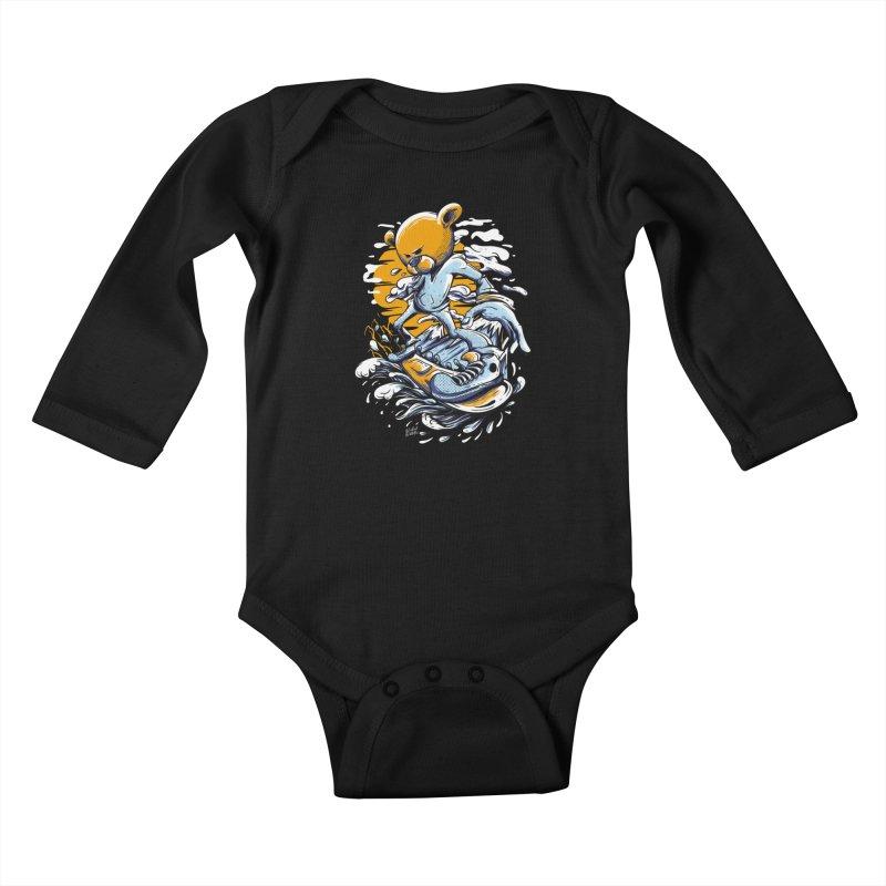 Snow Bear Kids Baby Longsleeve Bodysuit by Wicked Oddities