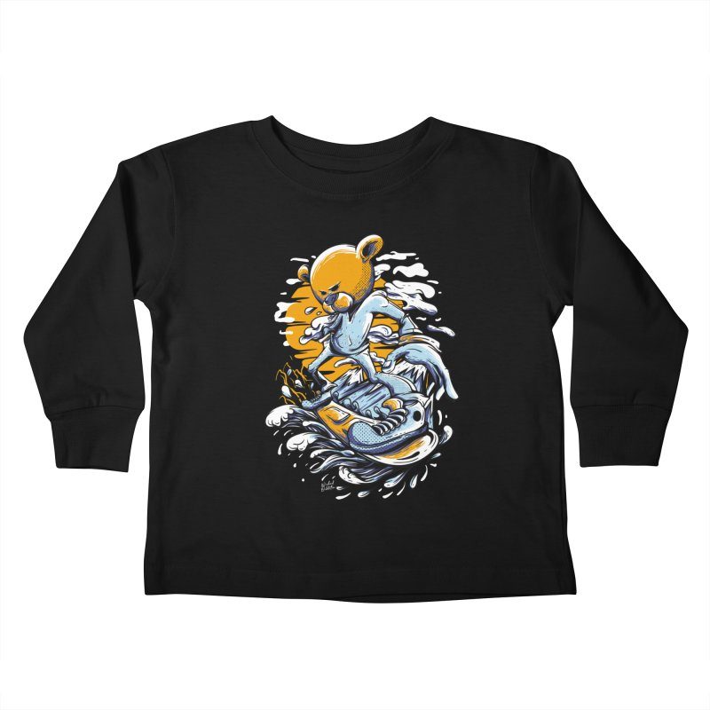Snow Bear Kids Toddler Longsleeve T-Shirt by Wicked Oddities