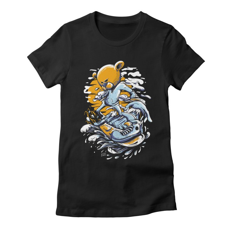 Snow Bear Women's Fitted T-Shirt by Wicked Oddities