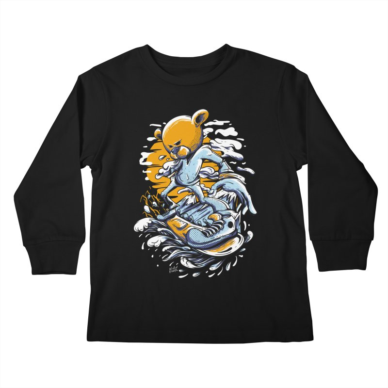 Snow Bear Kids Longsleeve T-Shirt by Wicked Oddities