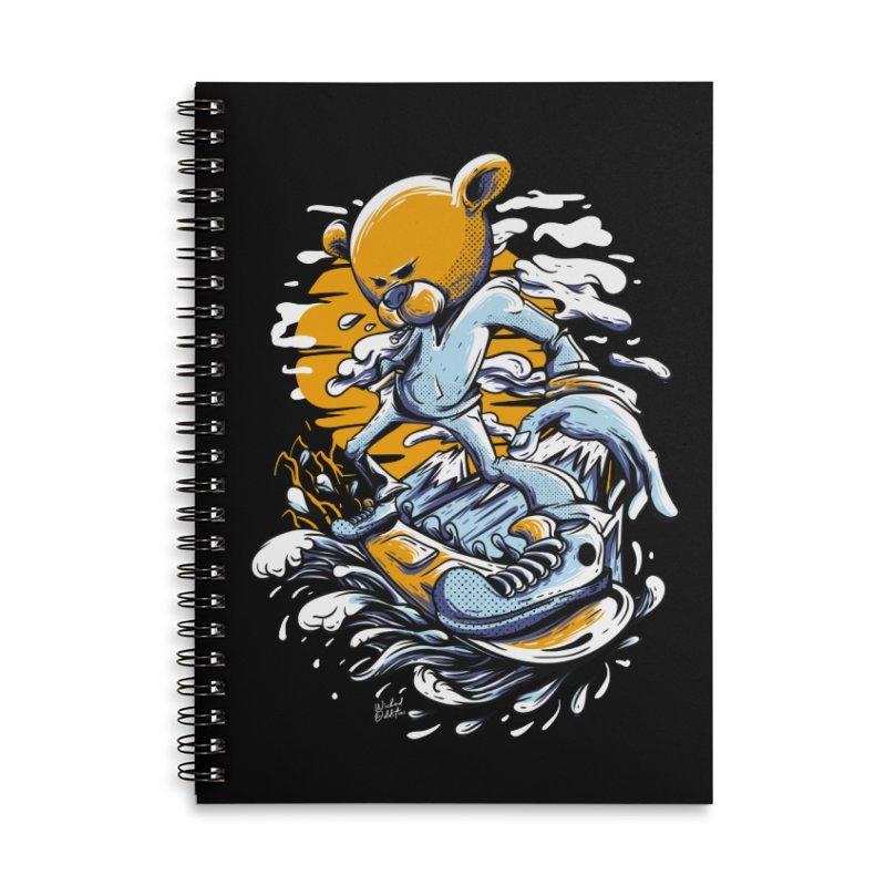 Snow Bear Accessories Lined Spiral Notebook by Wicked Oddities