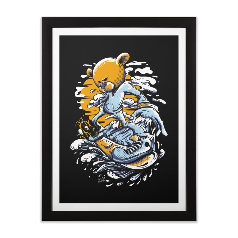 Snow Bear Home Framed Fine Art Print by Wicked Oddities