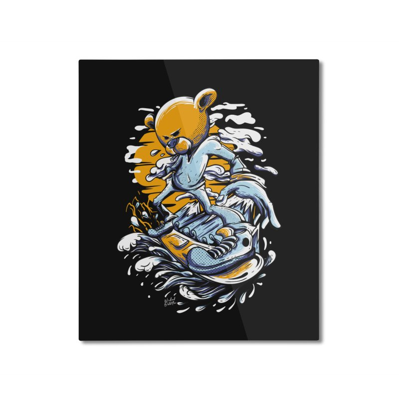 Snow Bear Home Mounted Aluminum Print by Wicked Oddities