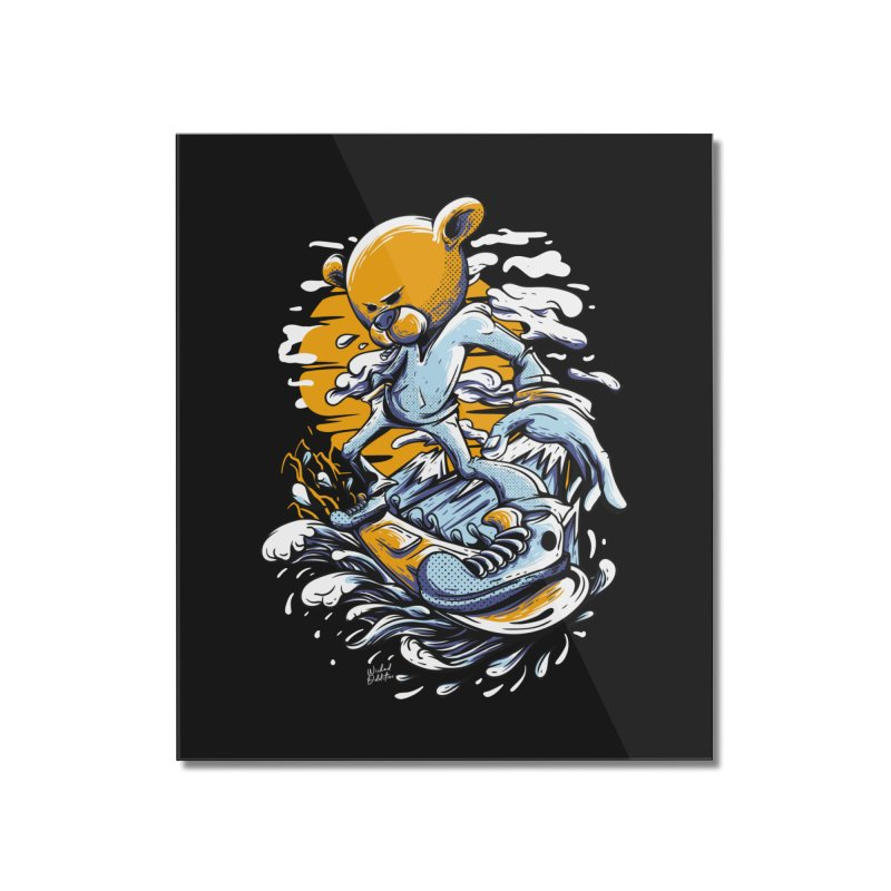 Snow Bear Home Mounted Acrylic Print by Wicked Oddities