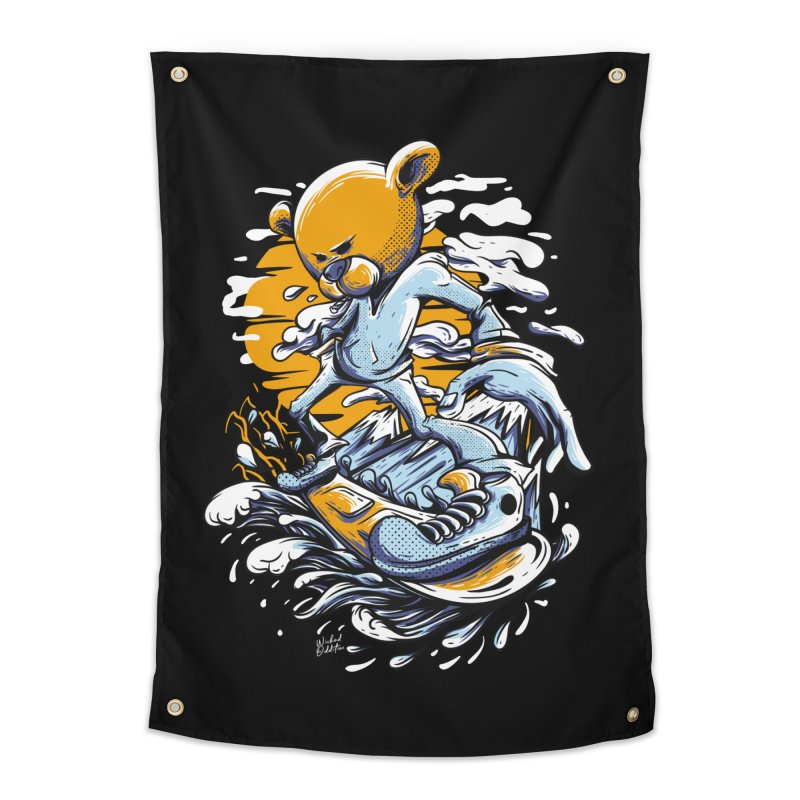 Snow Bear Home Tapestry by Wicked Oddities