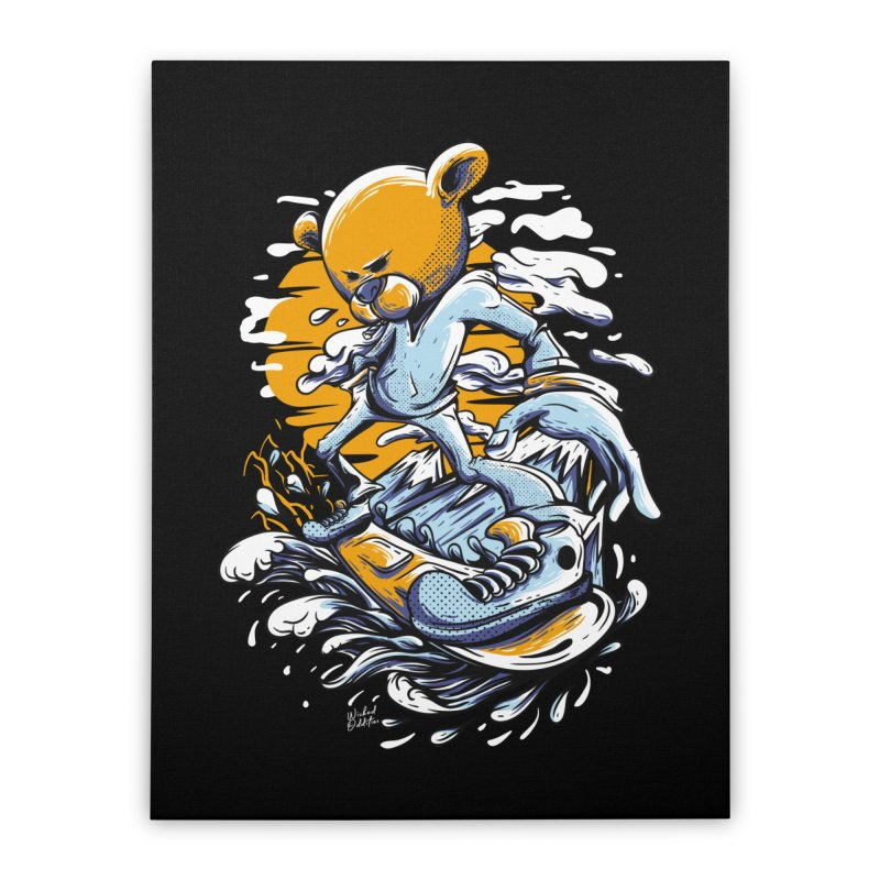 Snow Bear Home Stretched Canvas by Wicked Oddities