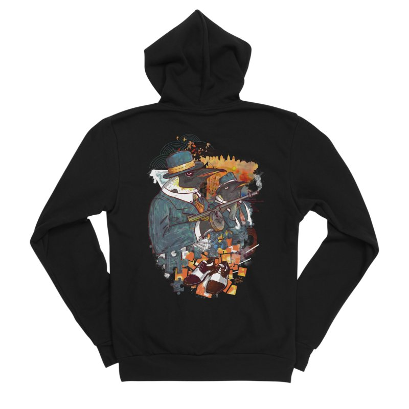 Mobsters Men's Sponge Fleece Zip-Up Hoody by Wicked Oddities