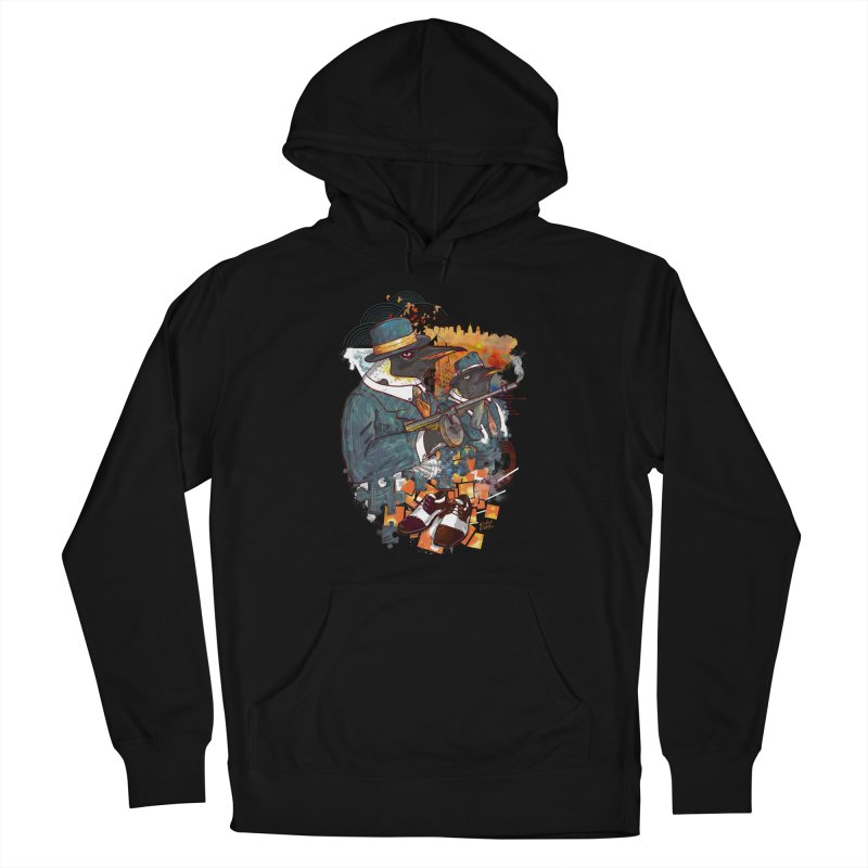 Mobsters Women's French Terry Pullover Hoody by Wicked Oddities