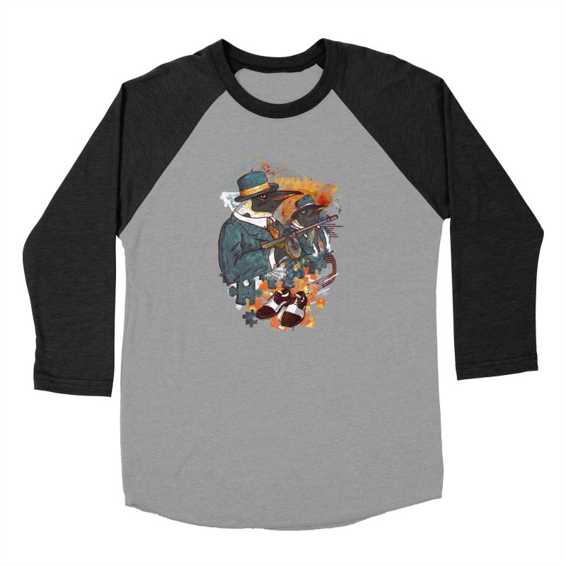 Mobsters Women's Baseball Triblend Longsleeve T-Shirt by Wicked Oddities