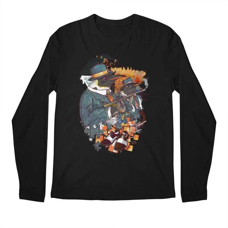 Mobsters Men's Regular Longsleeve T-Shirt by Wicked Oddities