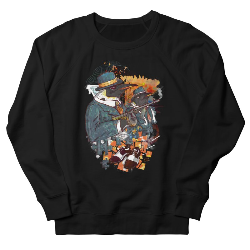 Mobsters Women's French Terry Sweatshirt by Wicked Oddities