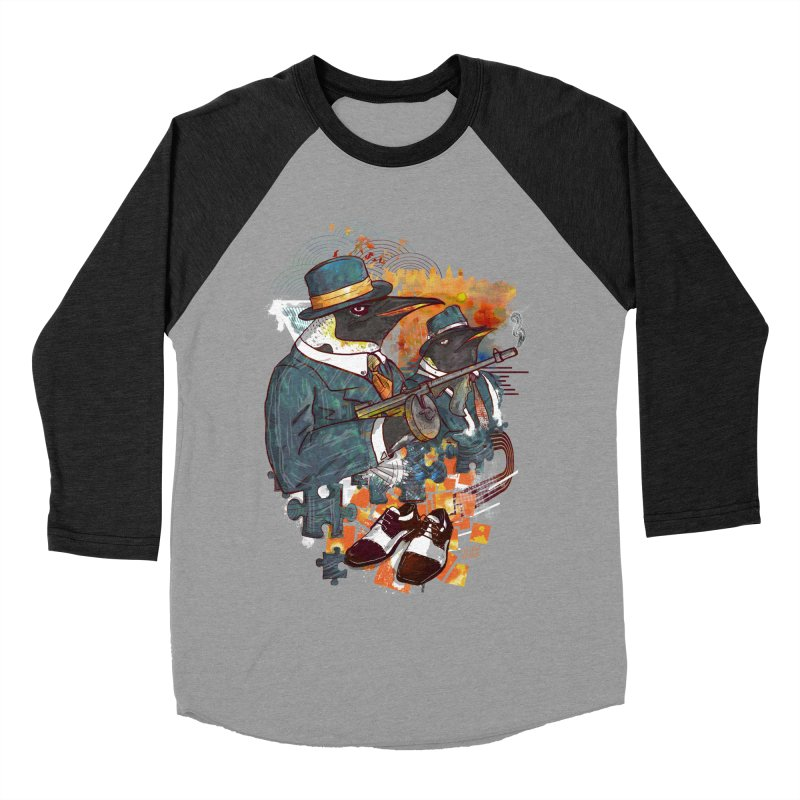 Mobsters Men's Baseball Triblend Longsleeve T-Shirt by Wicked Oddities
