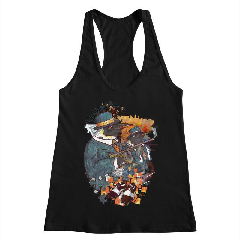 Mobsters Women's Racerback Tank by Wicked Oddities