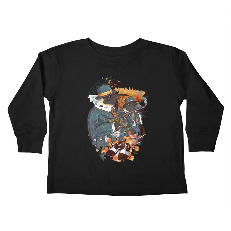 Mobsters Kids Toddler Longsleeve T-Shirt by Wicked Oddities