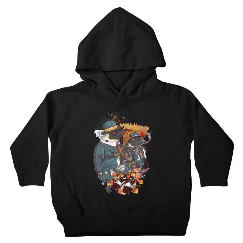 Mobsters Kids Toddler Pullover Hoody by Wicked Oddities