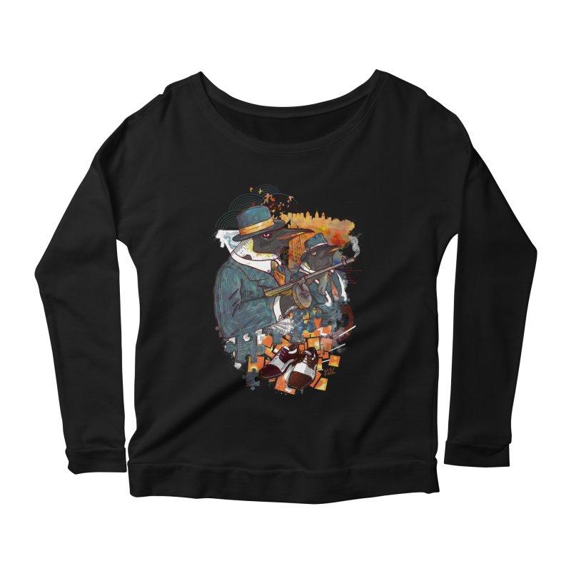 Mobsters Women's Scoop Neck Longsleeve T-Shirt by Wicked Oddities