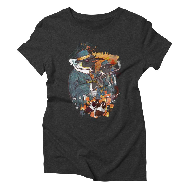 Mobsters Women's Triblend T-Shirt by Wicked Oddities