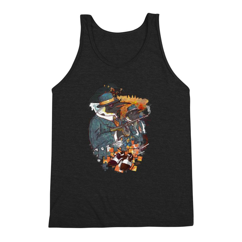 Mobsters Men's Triblend Tank by Wicked Oddities