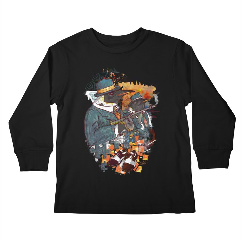 Mobsters Kids Longsleeve T-Shirt by Wicked Oddities
