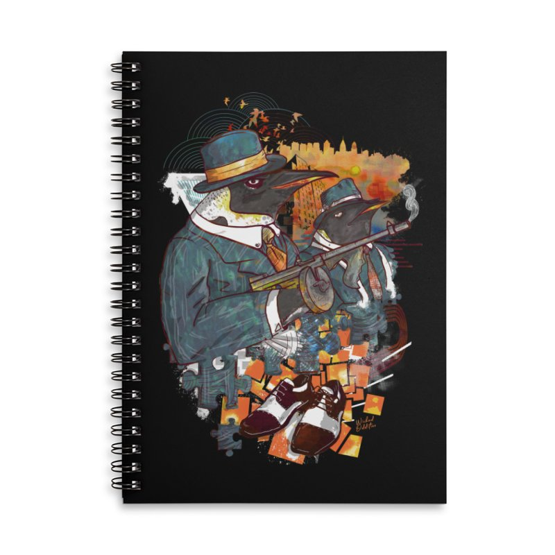 Mobsters Accessories Lined Spiral Notebook by Wicked Oddities