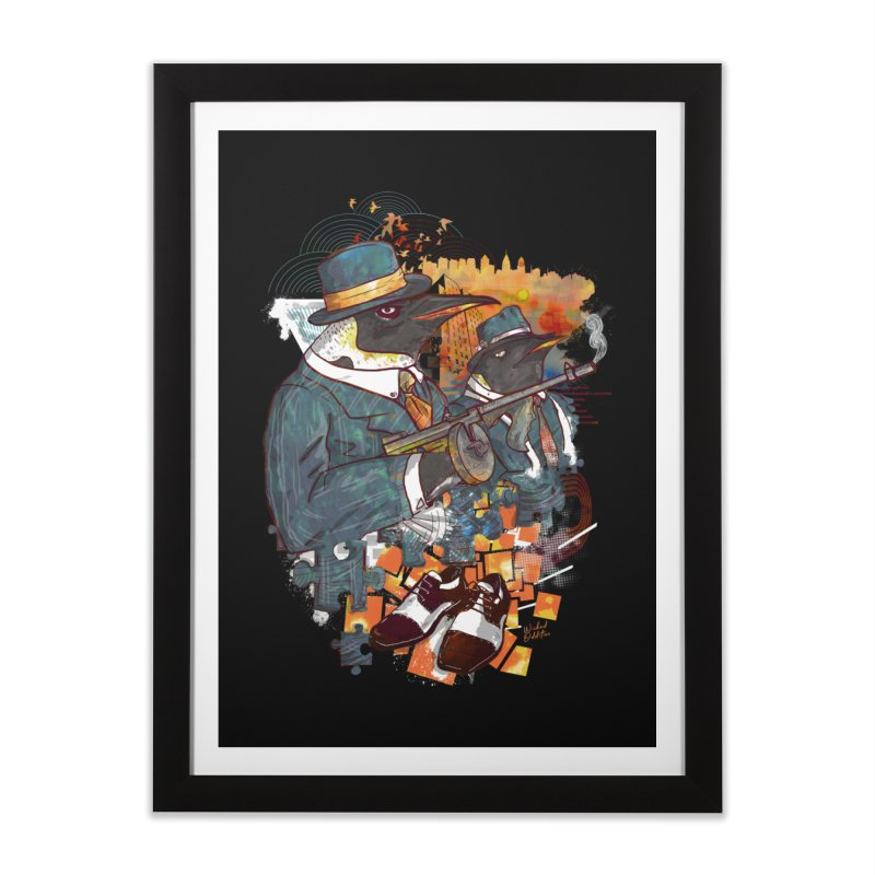 Mobsters Home Framed Fine Art Print by Wicked Oddities
