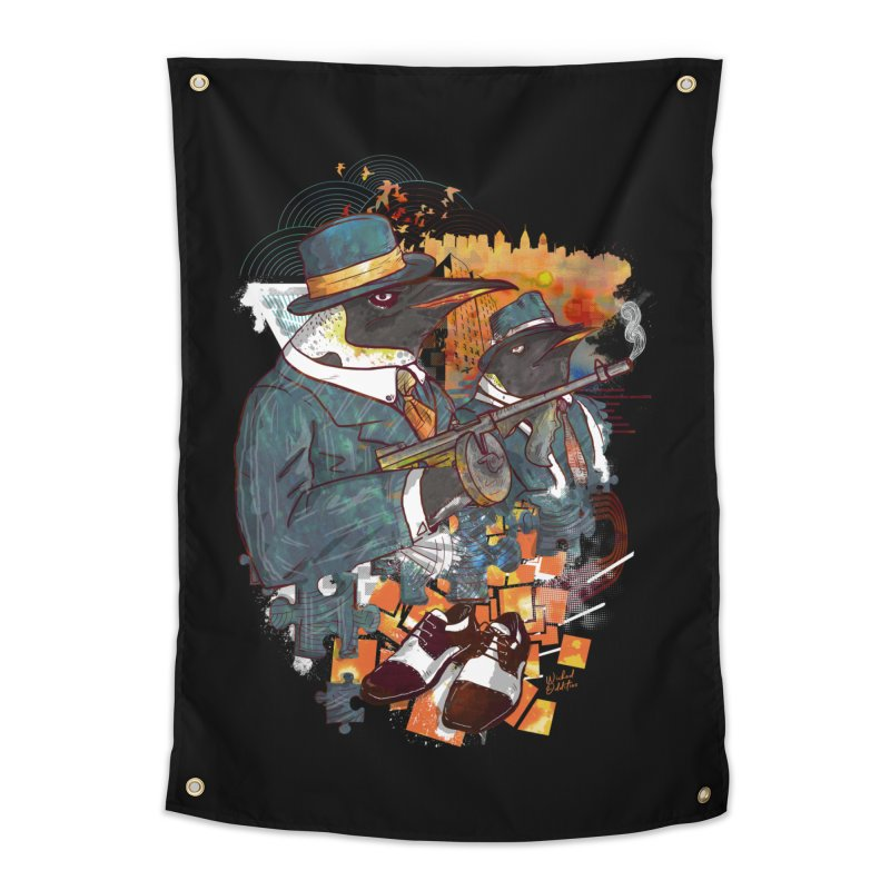 Mobsters Home Tapestry by Wicked Oddities