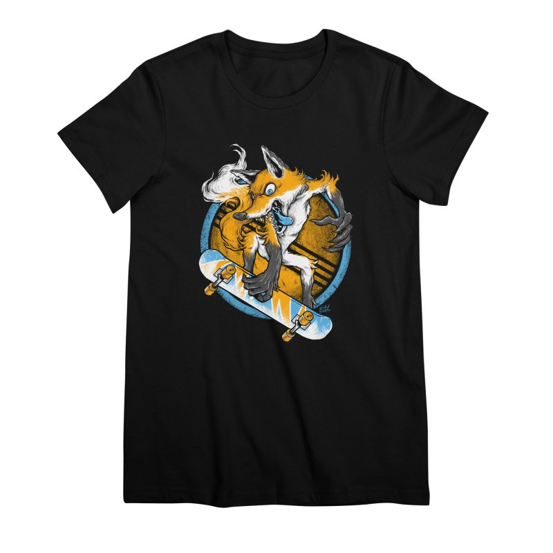 Foxy Skater Women's Premium T-Shirt by Wicked Oddities