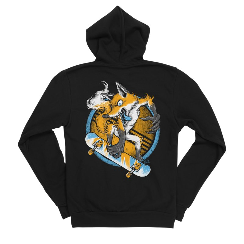 Foxy Skater Men's Sponge Fleece Zip-Up Hoody by Wicked Oddities