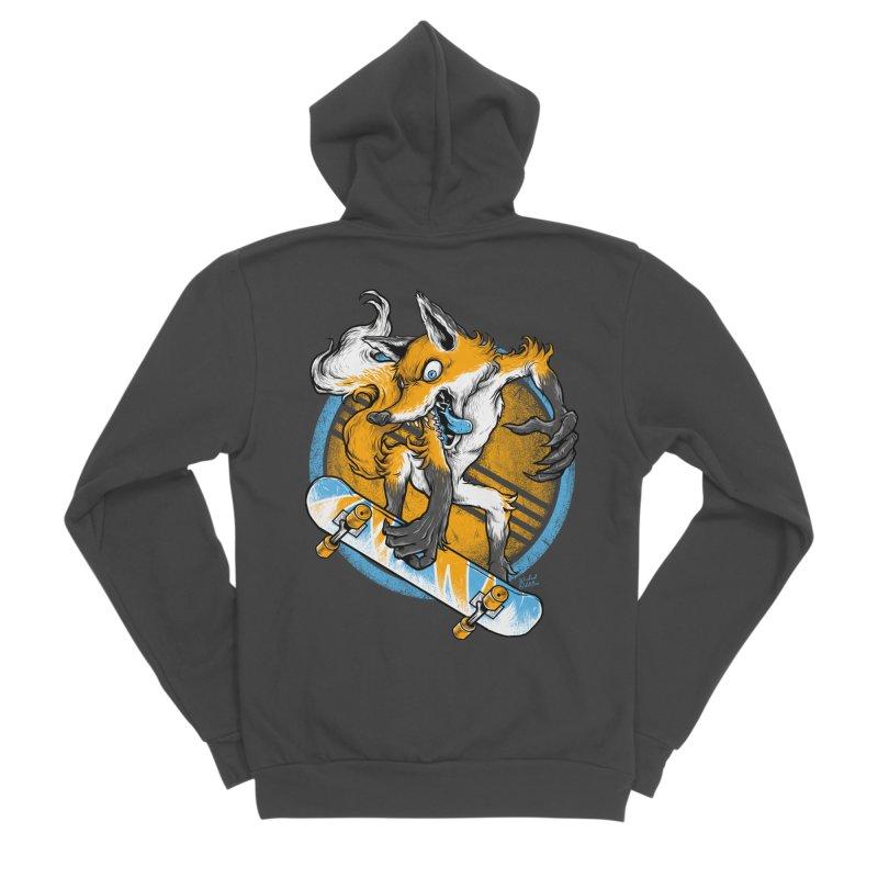 Foxy Skater Men's Sponge Fleece Zip-Up Hoody by Wicked Oddities