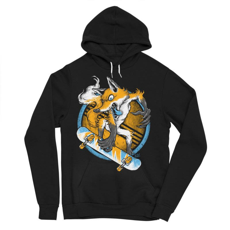 Foxy Skater Men's Sponge Fleece Pullover Hoody by Wicked Oddities