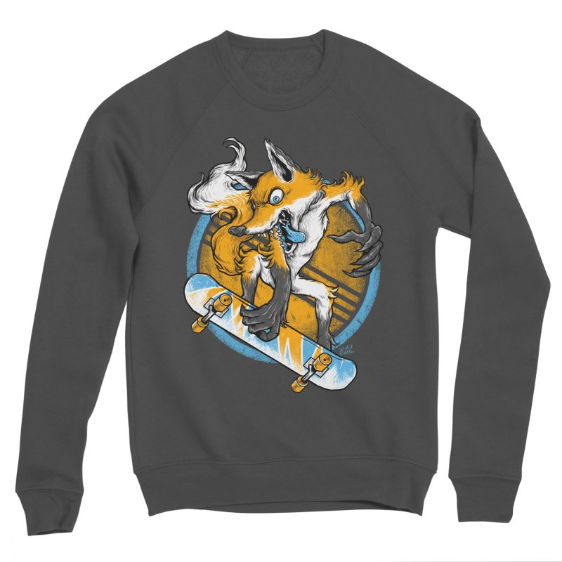 Foxy Skater Men's Sponge Fleece Sweatshirt by Wicked Oddities