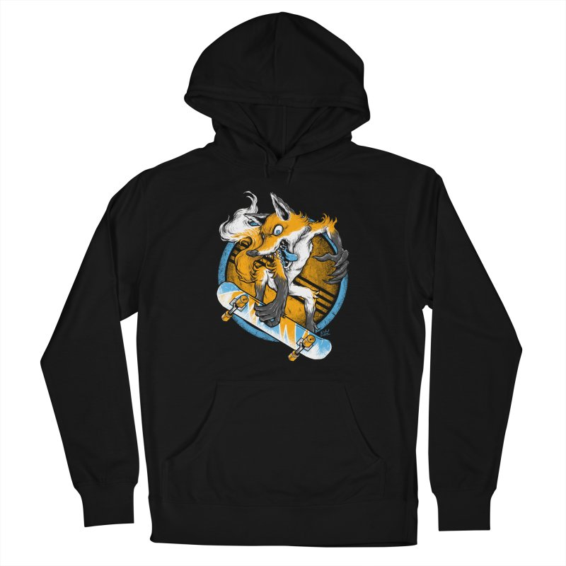 Foxy Skater Women's Pullover Hoody by Wicked Oddities
