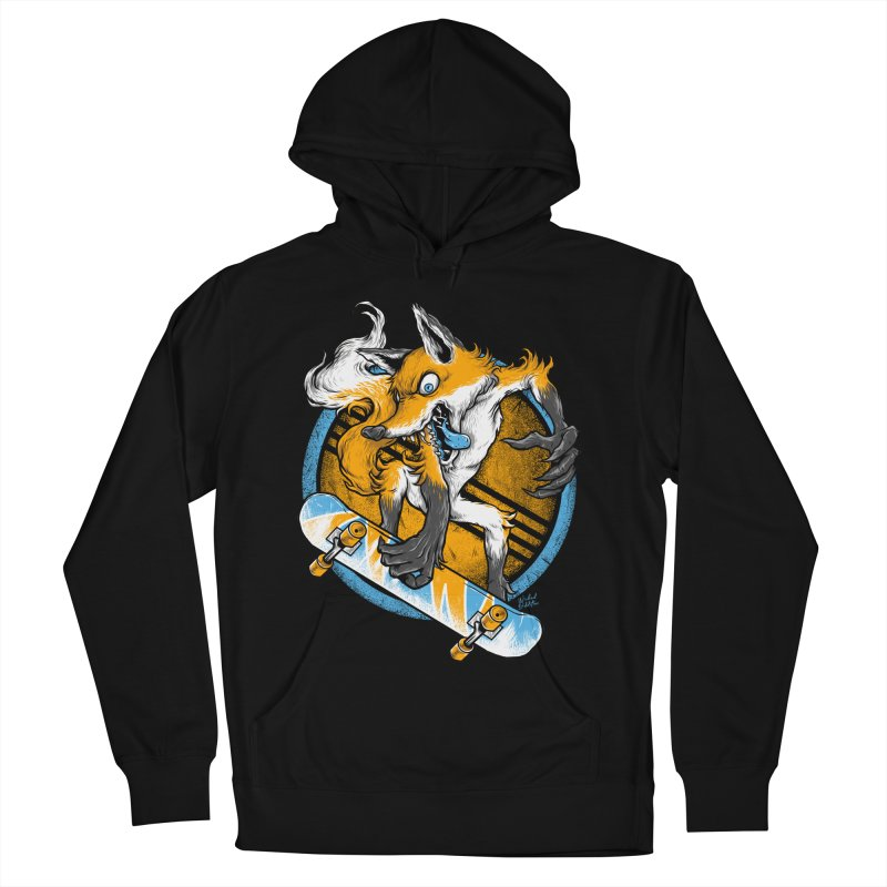 Foxy Skater Women's French Terry Pullover Hoody by Wicked Oddities
