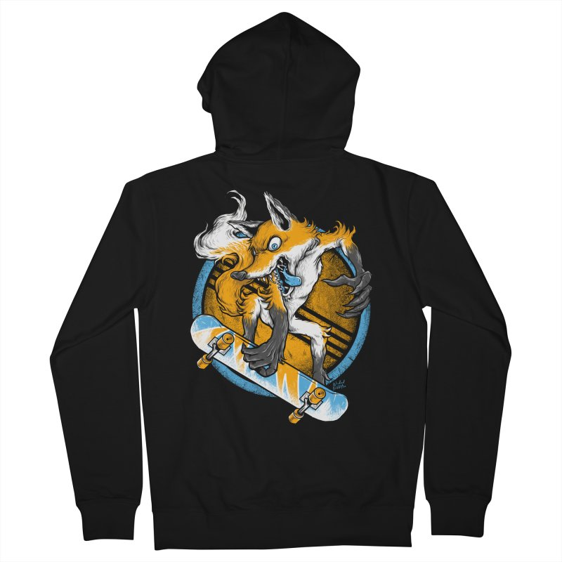 Foxy Skater Men's French Terry Zip-Up Hoody by Wicked Oddities
