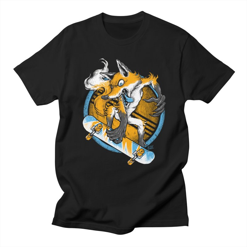 Foxy Skater Women's Regular Unisex T-Shirt by Wicked Oddities