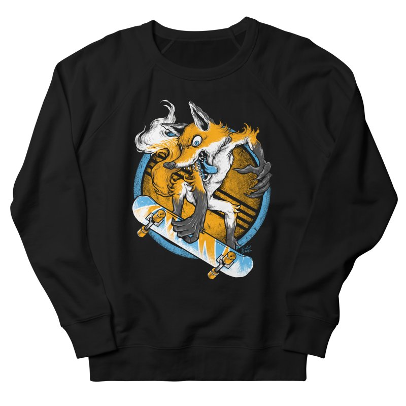 Foxy Skater Men's French Terry Sweatshirt by Wicked Oddities
