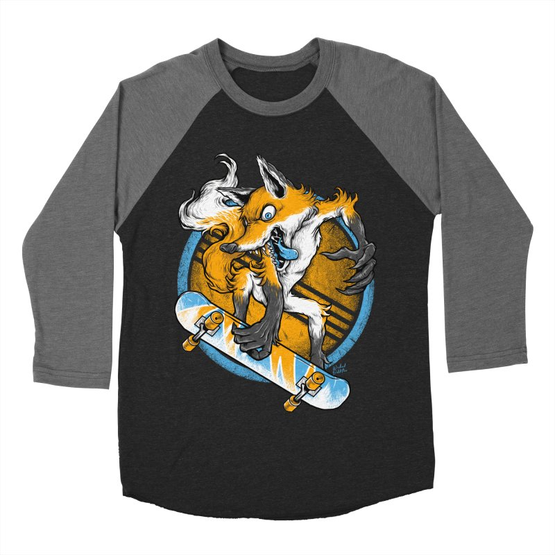 Foxy Skater Women's Baseball Triblend Longsleeve T-Shirt by Wicked Oddities