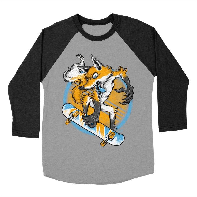 Foxy Skater Women's Baseball Triblend Longsleeve T-Shirt by Wicked Oddities
